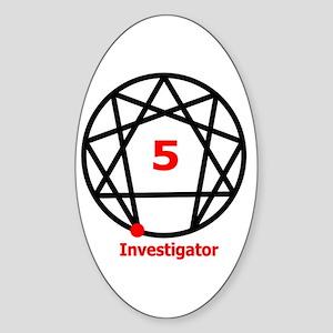Type 5 Investigator Oval Sticker