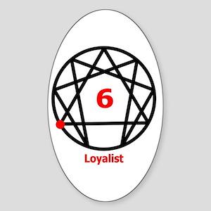Type 6 Loyalist Oval Sticker