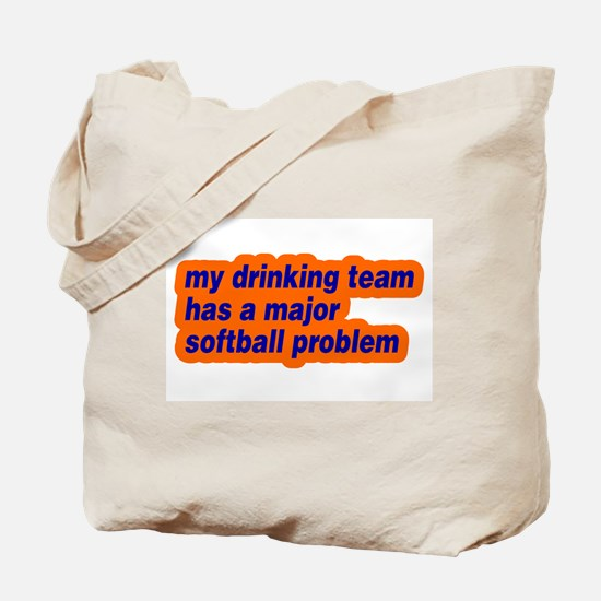 Drinking Team Softball Proble Tote Bag