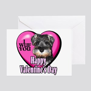 Miniature Schnauzer V-Day Greeting Card