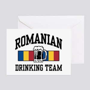 Romanian Drinking Team Greeting Cards (Pk of 10)