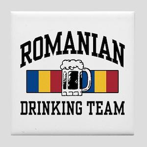 Romanian Drinking Team Tile Coaster