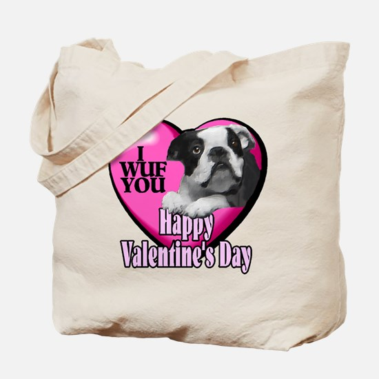 Boston Terrier V-Day Tote Bag