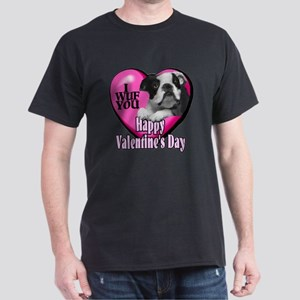 Boston Terrier V-Day Dark T-Shirt