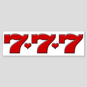 777 Hearts Bumper Sticker