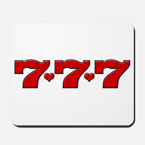 777 Hearts Mousepad
