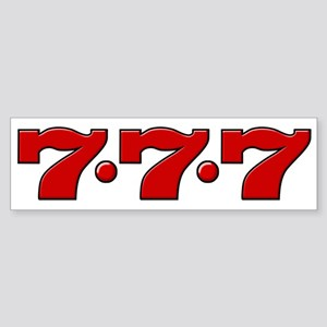 Slot Machine 777 Bumper Sticker