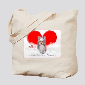Yorkie Dog by Delia Tote Bag