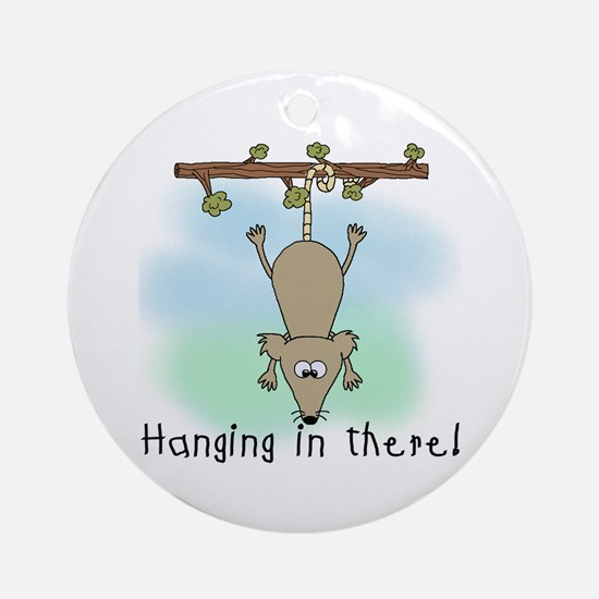 Hanging in There Ornament (Round)