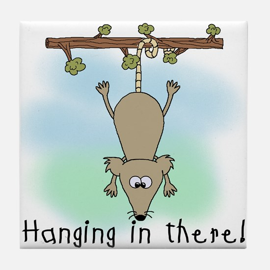 Hanging in There Tile Coaster