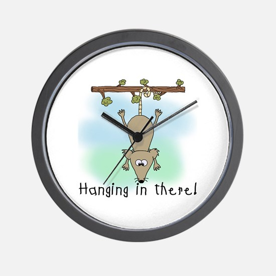 Hanging in There Wall Clock