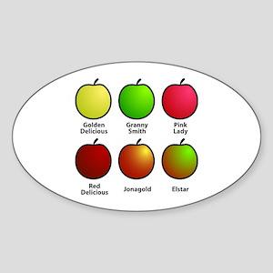 Apple Fan Oval Sticker