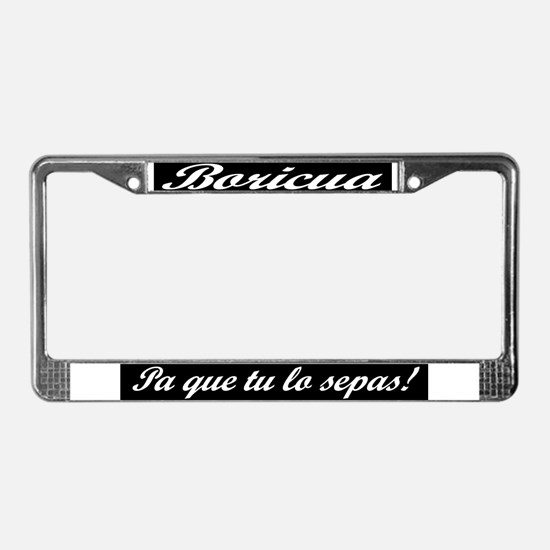 Cute Hispano License Plate Frame