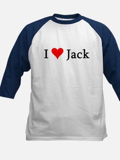 I Love Jack Kids Baseball Jersey