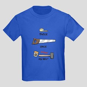 Twice, Once, As Nec' Kids Dark T-Shirt