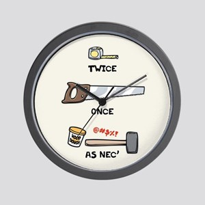 Twice, Once, As Nec' Wall Clock
