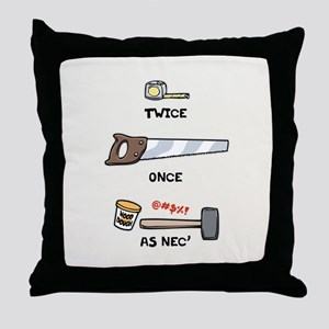 Twice, Once, As Nec' Throw Pillow
