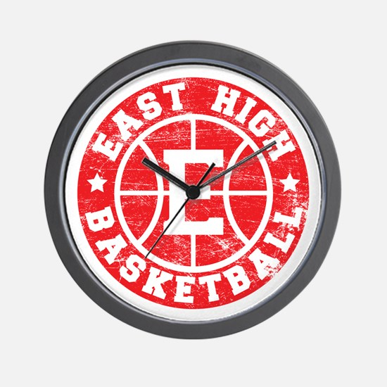 East High Basketball Wall Clock