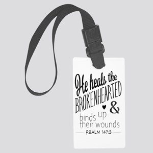 Psalm 147:3 Bible Verse Word Art Luggage Tag