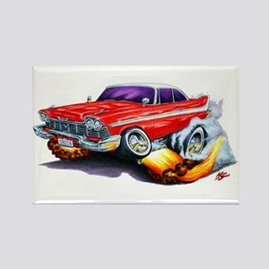 1958-59 Fury Red Car Rectangle Magnet