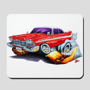 1958-59 Fury Red Car Mousepad