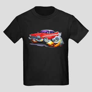 1958-59 Fury Red Car Kids Dark T-Shirt