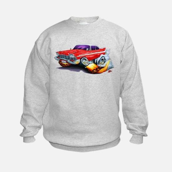 1958-59 Fury Red Car Sweatshirt