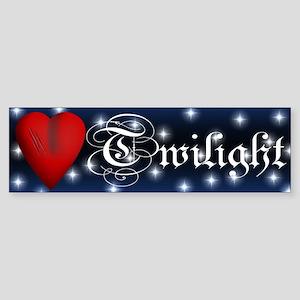 Sparkling Twilight Scratched Heart Sticker (Bumper