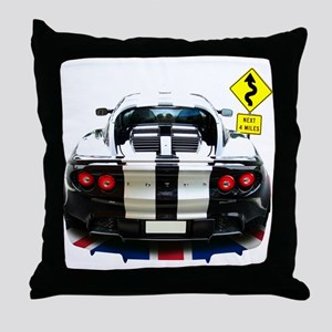 Curves Ahead-60th Throw Pillow