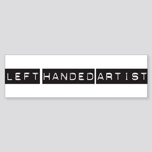 Left handed artist Bumper Sticker