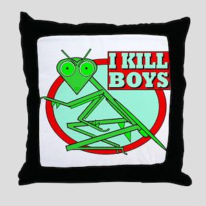 I KILL BOYS Throw Pillow