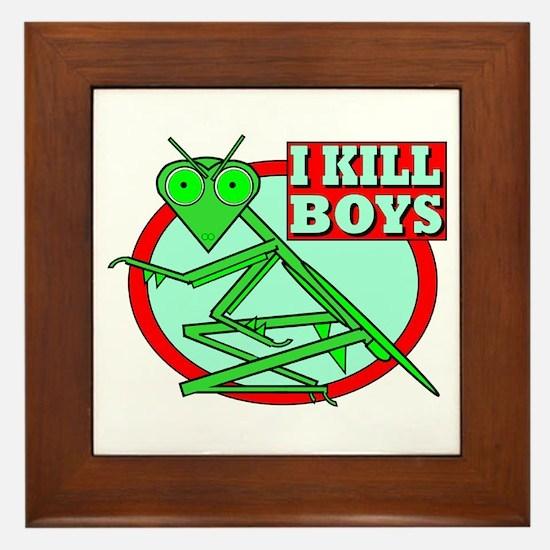 I KILL BOYS Framed Tile