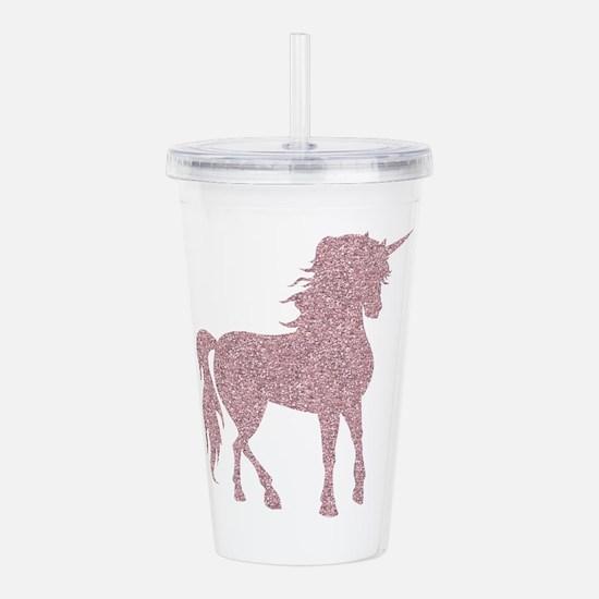 Pink Unicorn Acrylic Double-wall Tumbler