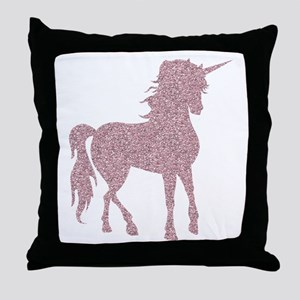 Pink Unicorn Throw Pillow