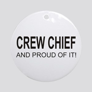 Crew Chief Ornament (Round)