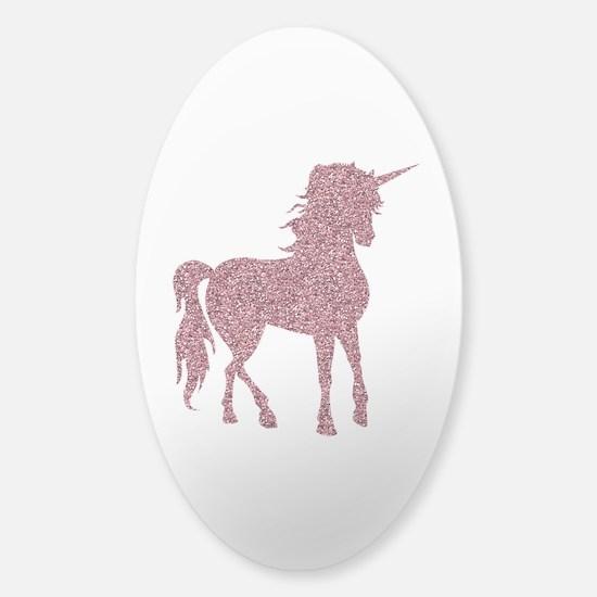 Pink Unicorn Sticker (Oval)