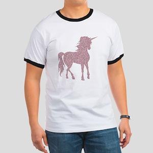 Pink Unicorn Ringer T