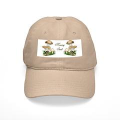 Snail in Mushroom Garden Baseball Cap