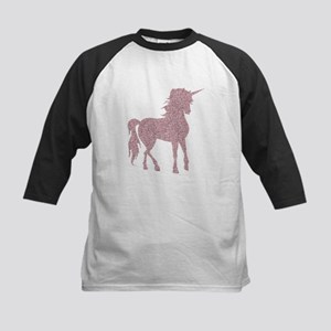 Pink Unicorn Kids Baseball Jersey