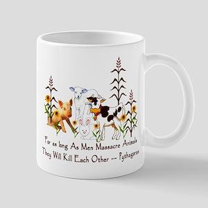 Pythagoras Vegetarian Quote Mug