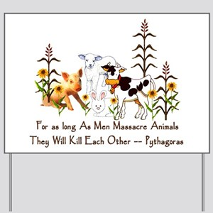 Pythagoras Vegetarian Quote Yard Sign