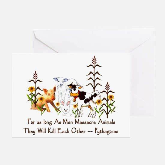 Pythagoras Vegetarian Quote Greeting Card