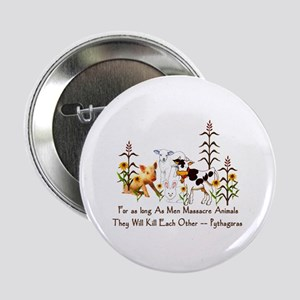 "Pythagoras Vegetarian Quote 2.25"" Button"