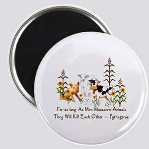 Pythagoras Vegetarian Quote Magnet