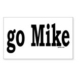 go Mike Rectangle Sticker