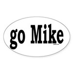 go Mike Oval Sticker