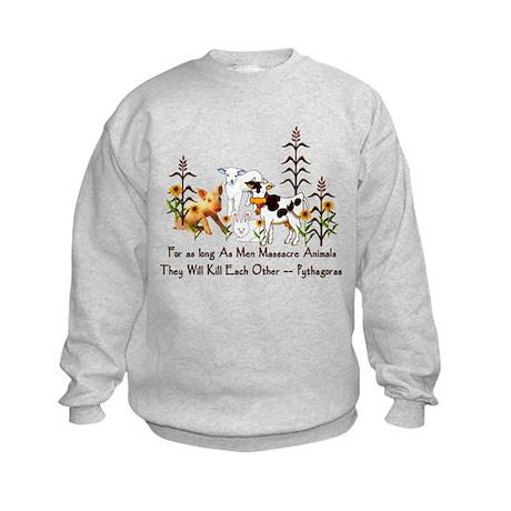 Pythagoras Vegetarian Quote Kids Sweatshirt