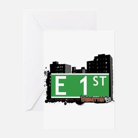 E 1 STREET, MANHATTAN, NYC Greeting Card