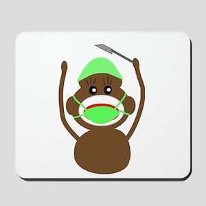 Sock Monkey Occupations Mousepad