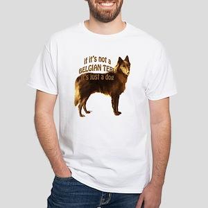 Belgian Terv Dog White T-Shirt